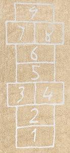 Aratextil. Alfombra Infantil 100% Algodón lavable en lavadora Colección PataCoja Beige 90x200 cms marca Aratextil Hogar 26 S.L.