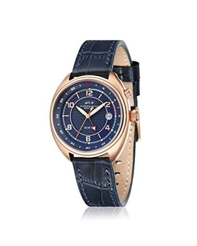 AVI-8 Men's AV-4030-04 Supermarine Seafire Blue Leather Watch