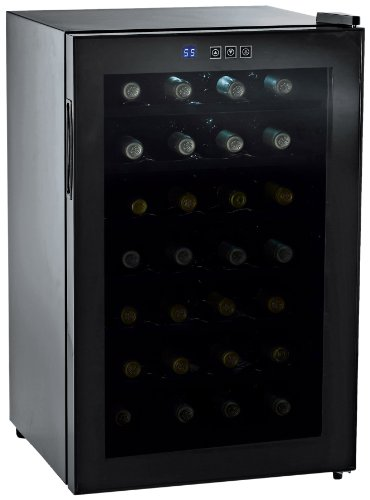 Wine Enthusiast Silent 28 Bottle Touchscreen Wine Refrigerator (Mirrored Door)