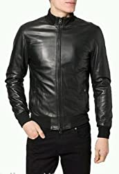 Zayn Leather Men's Leather Jacket (427_WLJ_Black_Small)