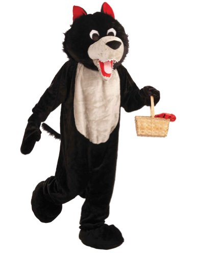 Adult-Costume Wolf Mascot Adult Costume Halloween Costume - Most Adults