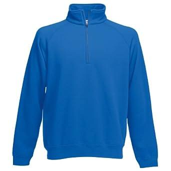 Fruit Of The Loom - Sweatshirt à fermeture zippée - Homme (S) (Bleu royal)