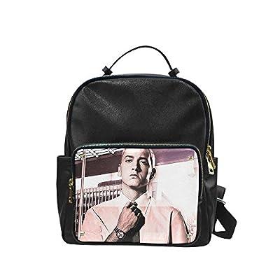 NBQLY Super Rap Star Eminem Unisex Leisure Backpack School Leisure Shoulder Bag