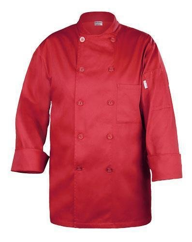 Chef Works Repc-Red, Nantes Basic Chef Coat, Red, X-Large