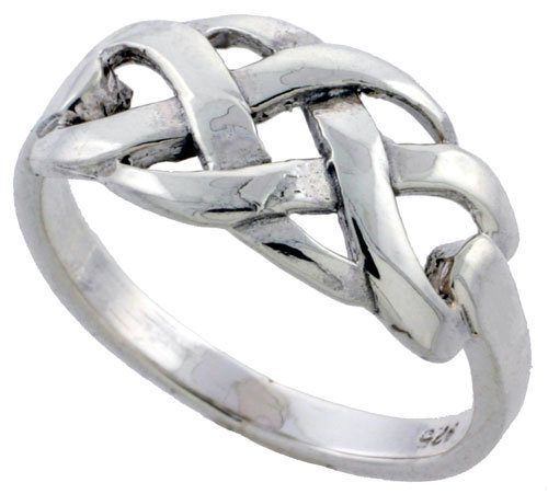 Sterling Silver Woven Braid Ring, size 9.5