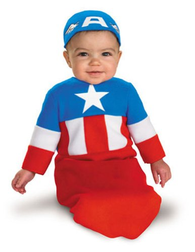 0-6 Months - Captain America Baby Bunting Costume 0-6 Months