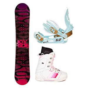 Buy Joyride Writing Pink Ladies Complete Snowboard Package by Joy Ride