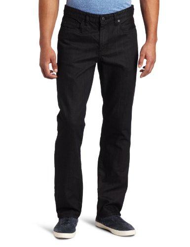 Kenneth Cole Men's Straight Leg Coated Jean, Black, 34x32
