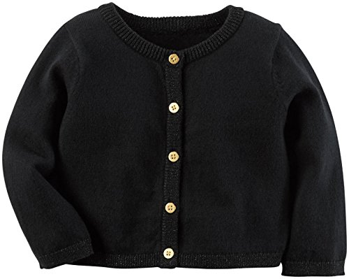 Carter's Baby Girls Cardigans, Black, 12M