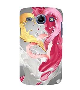 animated tricoloured milkshake pic 3D Hard Polycarbonate Designer Back Case Cover for Samsung Galaxy Core i8262 :: Samsung Galaxy Core i8260