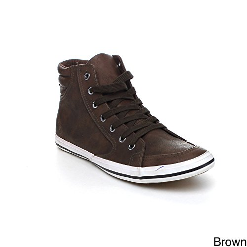 Arider Ar5011 Mens Fashion Classic High Top Lace Up Sneaker Comfort Casual Shoe, Color:Brown, Size:8