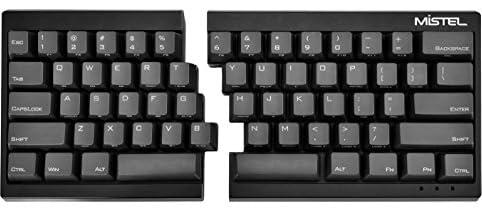 MiSTEL BAROCCO MD600分離式 メカニカルキーボード 英語配列 62キー CHERRY 赤軸 PBTキーキャップ ブラック MD600-RUSPLGAA1