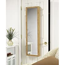 Over the door, Oak ,jewelry Armoire Mirror