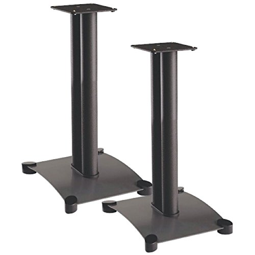 Sanus Systems SF22 Steel Foundations 22 Tall Speaker Stand for Medium to Large Bookshelf Speakers (Pair)
