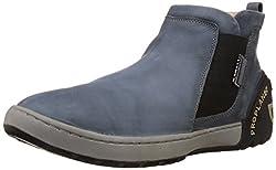 Woodland Men's Dark Grey Leather Boots - 7 UK/India (41 EU)