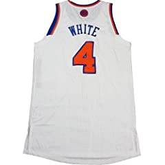 James White Jersey Warmup Shirt - NY Knicks 2012-2013 Season Game Used White Jersey... by Steiner Sports