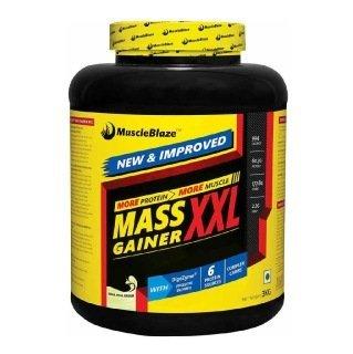 MuscleBlaze Mass Gainer XXL, Kesar Pista Badam 3 kg / 6.6 lb