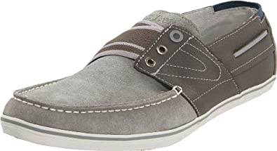 Tretorn Men's Smogensson Suede Slip-On, Pewter, 4 M US