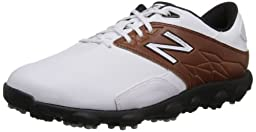 New Balance Men\'s Minimus LX Golf Shoe,White/Brown,8.5 D US