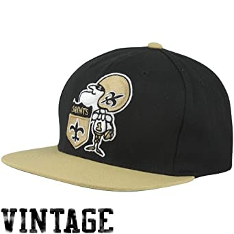 Mitchell & Ness New Orlean Saints XL 2 Tone Logo Snapback Hat by Mitchell & Ness