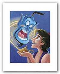 Aladdin and The Genie-The Magical Lamp by Walt Disney 10.5&quot;x8&quot; Art Print Poster Disney
