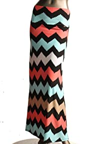 Women's Maxi Skirt -Stretchy, Soft Fa…