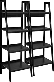 Altra Furniture Metal Frame Bundle Bookcase Ladder, Black, Set of 2