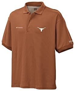 Buy NCAA Texas Longhorns Collegiate Perfect Cast Polo Shirt, Bright Copper by Columbia
