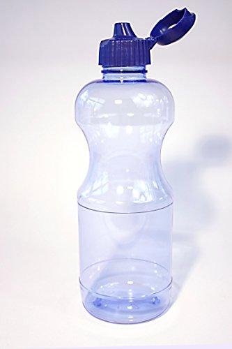 TRITAN gourde 80 x 1 l) (ronde avec trinkdeckel, fabriqué en allemagne, sans plastifiant et sans bPa design soigné disposant ouverture large (33 cm), large surface pour une bonne stabilité, facile d'entretien, geschirrspülfest, haute transparence, facile-couleur : bleu, pour un usage alimentaire, neutre au goût et à l'odeur et sans odeurs, incassable, résistant aux chocs et druckstabil, incassable, résistant à la chaleur jusqu'à 100 °c , stérilisable, remplir avec des boissons qui convient, recyclable, conviennent à des fins publicitaires, a été sodaspender/flacon/tafelwasserspender distributeur d'eau dans les cliniques, les hôpitaux et les autorités d'utilisation conçue pour les vêtements de sport ou de loisir, utilisation et sur demande, reinigungsanleitung großkundenrabatt!