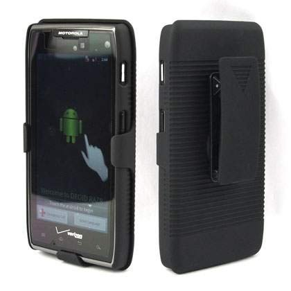Encased Holster Shell Combo with Kickstand for Droid Razr Maxx
