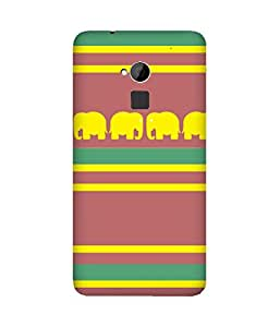 Stripes And Elephant Print (8) HTC One Max Case