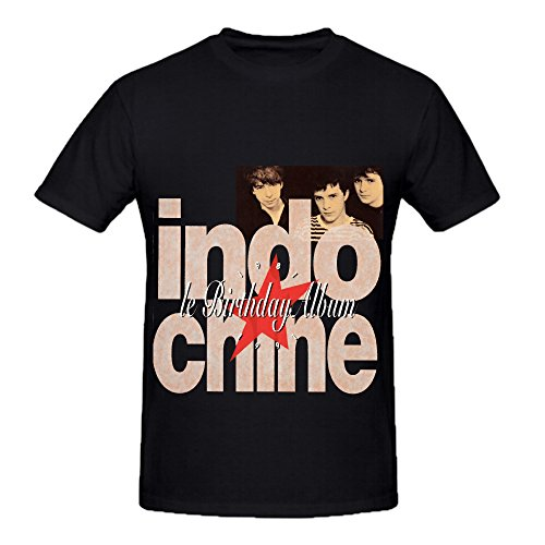 Indochine Le Birthday Album 1981 1991 Rock Mens Crew Neck Cute Tee Shirts Black (Z Clip Le Mans compare prices)