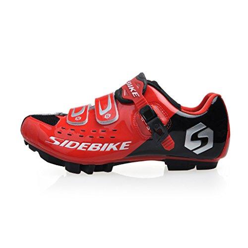 Da uomo e da donna, per ciclismo, calzature MTB-Scarpe di sicurezza con fibbia di regolazione, per Mountain Bike