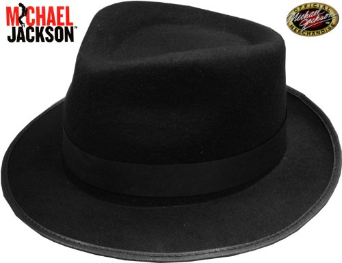 Official Michael Jackson Classic Black Fedora Hat
