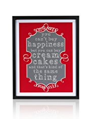 Happiness & Cupcakes Frame Wall Art