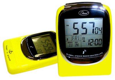 Global Sync Atomic Clock in Shiny Yellow