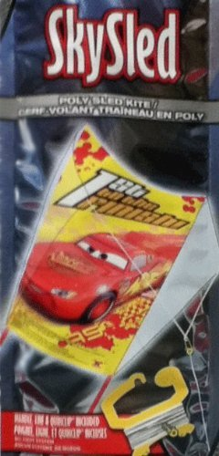 "DISNEY PIXAR CARS 24"" KITE~1ST TO THE FINISH~BRAND NEW~READY TO FLY~MAKES A NICE CHRISTMAS GIFT!"
