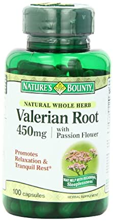 buy Nature'S Bounty Natural Whole Herb Valerian Root, 450Mg, 100 Capsules (Pack Of 6)