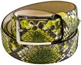 Bamà Fashion - Cintura Unisex in Pitone Verde