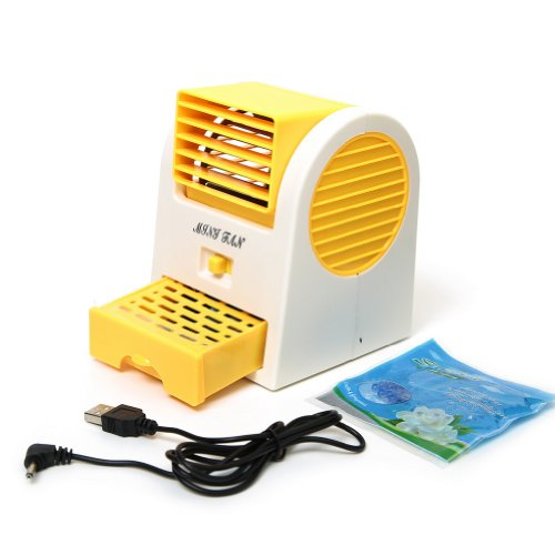 Mini Handheld Portable Fan Air Conditioning Conditioner Water Cool Cooler Usb Orange front-121151