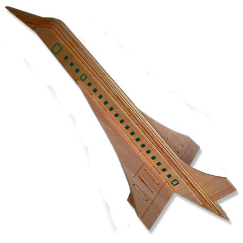 414aNwjI4VL Buy  3 D Wooden Puzzle   Airplane Model Concorde  Affordable Gift for your Little One! Item #DCHI WPZ P121