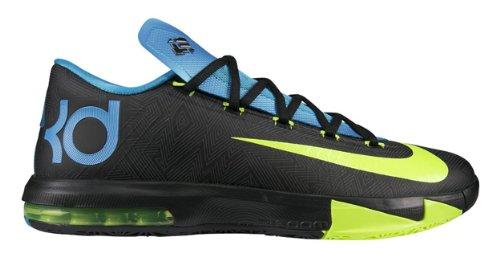 293713810ad1 Nike KD VI (OKC Thunder Away II) Black Volt-Vivid Blue-Dark Grey ...