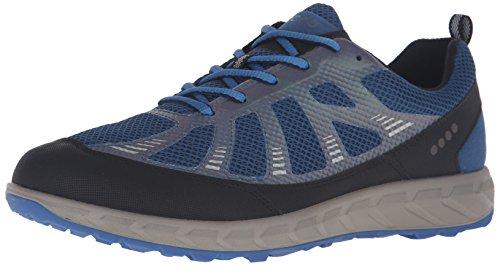 Ecco ECCO TERRATRAIL - Scarpe da Trail Running Uomo, Multicolore (BLACK/POSEIDON/BERMUDA BLUE59985), 47 EU