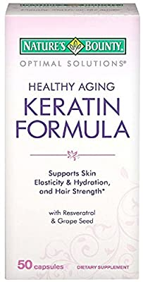 Nature's Bounty Optimal Solutions Healthy Aging Keratin Formula Capsules 50 ea