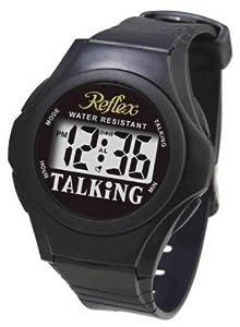 Reflex Water Resistant Digital Talking Black Watch
