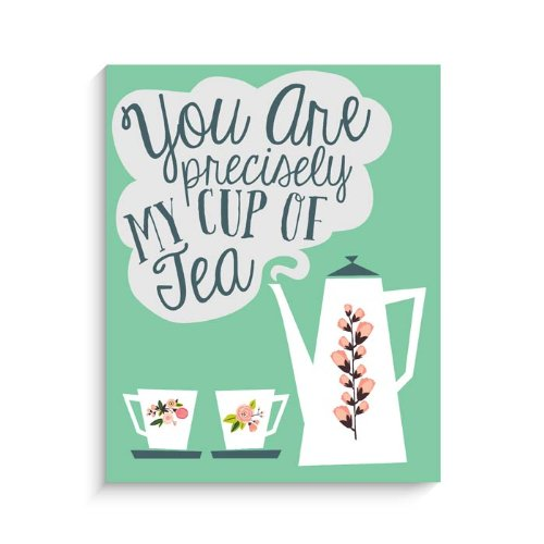 "Lucy Darling Cup of Tea Print Wall Decor, Green, 8"" x 10"" - 1"