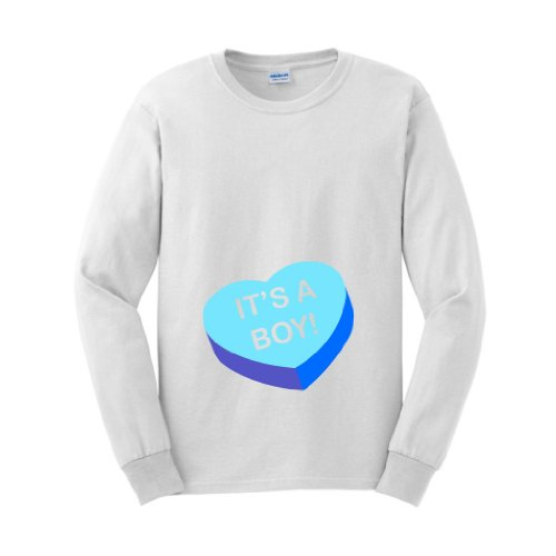 It'S A Boy Maternity Themed Long Sleeve T-Shirt Medium White front-933187