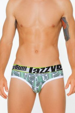 Lazzy Bum Cubes Pouch Low-Rise Brief - Green
