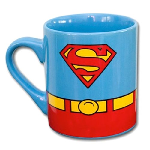 DC Comics Superman Costume Superhero Ceramic Coffee Mug