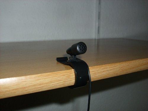 PC Mikrofon mit Clip zur Befestigung z.B. an einem Regal
